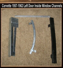 Corvette 1961 Door Left Drivers Inside Window channels 1957 1958 1959 1960 Guts