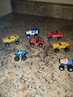 7 Lifted Hot Wheels Matchbox Micro Machines jeep trucks land Rover
