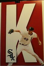 "Chicago White Sox Chris Sale K-Zone 11 x 17"" Sign Poster SGA White Jersey"
