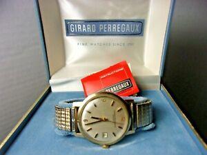 Vintage Girard Perregaux Gyromatic Mens Watch wristwatch 10k G.F. RUNS w/ Box