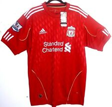 """NEW WITH TAGS! Liverpool FC 2010/2011/2012 L LARGE 42 - 44"""" Home Shirt ADIDAS"""