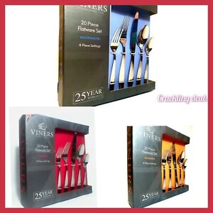 Viners Glamour  Stainless Steel 20 Piece Cutlery Set Gift box Various types!