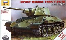 Zvezda 1/72 5001 WWII Soviet Red Army T-34/76 Medium Tank