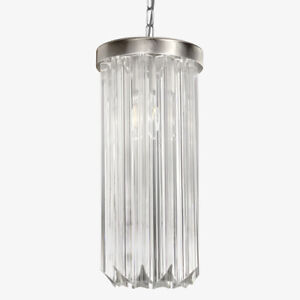 Lamp Suspension With Trihedron Patterns Glass Art, Art Deco, Lamp Modern