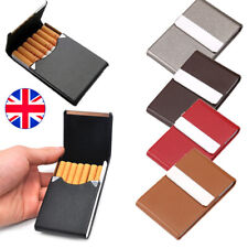 Aluminum Cigar Pocket Tobacco Box Case PU Leather Slim Cigarette Roll Up Holder