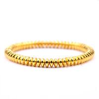 4 Colors Women Men Pave CZ Stopper 6mm Hematite Beads Bracelets Charm Jewelry