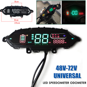 1PC Motorcycle Scooter Gauge LED Speedometer Odometer Control Panel Dash Display