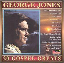 """GEORGE JONES CD """"20 GOSPEL GREATS"""" Brand New COUNTRY GOSPEL"""