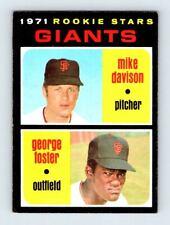 1971 Topps Baseball Set Break #276 Giants Rookies - George Foster  RC EX-EXMT