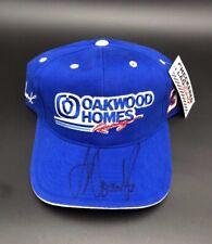 Joe Nemechek #33 Oakwood Homes Racing Adjustable Hat NASCAR Cap Autographed New