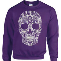 Hi-Octane Skull Sweatshirt Mens Womens biker outlaw racing speed motor jumper