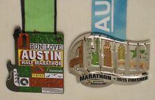 2015 Austin Texas Marathon Finisher Medal & Half Marathon Medal Set Freescale