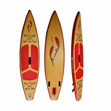 "Boutique ROI iSUP Inflatable SUP All-round 11'6"" Wood Finish"