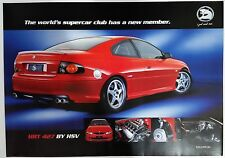 Holden HSV HRT 427 Promotional Poster **Good Condition**