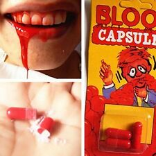 Fake Blood Capsules Trick Joke Halloween Horror Vampire Zombie Party Funny Trick