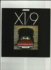 FIAT X1/9  SALES BROCHURE DECEMBER 1981 FOR 1982 MODEL YEAR