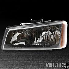 2003-2004 Chevrolet Silverado 1500 2500 3500 Headlight Lamp Clear lens Halogen L