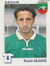 N°328 MADJID ADJAOUD # ALGERIA CS.SEDAN VIGNETTE PANINI FOOTBALL STICKER 2000