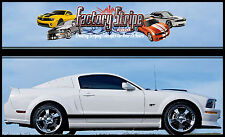 FORD MUSTANG RALLY SIDE ROCKER GRAPHIC DECAL FACTORY STRIPE 2005-2013