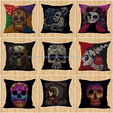 wholesale 9pcs sugar skull Day of the Dead cushion cover bench cushion cover