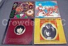 Lot of 4 Vintage Records: Go Gos Sonny & Cher Linda Ronstadt LP Albums