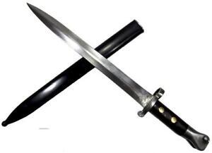 British Lee Metford P1888 MkII Rare Victorian Bayonet Steel Scabbard