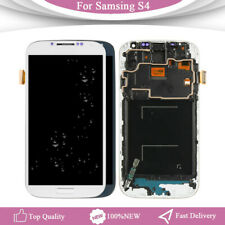 for Samsung Galaxy S4 I9505 LCD Touch Screen Digitizer Frame Replacement White