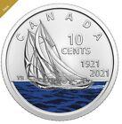 *PRE-ORDER* 2021 Canada 10 Cent BU Dime - Coloured Schooner 100th Anniversary