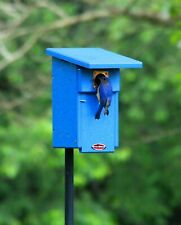 Recycled Bluebird Nest Box and Pole Package Bird House Nestbox