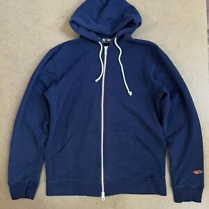Beams Plus Japan Zip Hoodie Sweatshirt Navy M