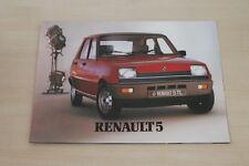 175855) Renault R 5 inkl. Alpine Prospekt 198?