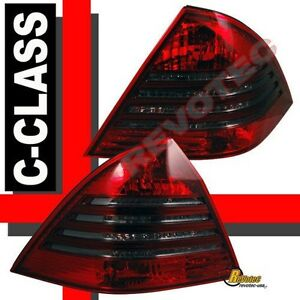 01 02 03 Mercedes Benz C Class W203 C240 C230 Red Smoke Tail Lights 1 Pair