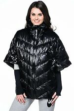 Nike Black Cascade Down Puffer Poncho Water Repellent 651592 010  300 MED  ANB 5ef714cb6122