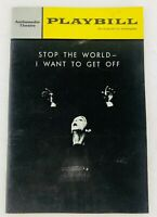 Playbill Ambassador Theatre Stop The World-I Want To Get Off January 1964 NYC
