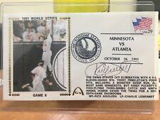 New ListingKirby Puckett Signed Gateway Cachet 1991 World Series Game 6