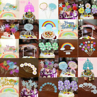 "Home Cake ""Happy Birthday"" Cake Topper Candle Card Cake DIY Decor Party Supplies"