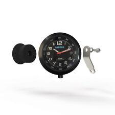 Oxford AnaClock Analogue Motorcycle Handlebar Clock - Black/Black