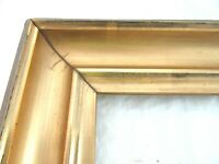 "ANTIQUE FITS 8"" X 10"" LEMON GOLD GILT PICTURE FRAME WOOD FINE ART COUNTRY"
