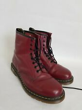 Dr Martens Burgundy air cushion soles mid Top Leather Boots Uk 10 Exellent cond
