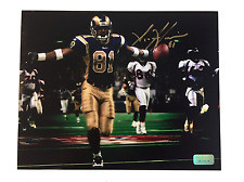 AZ-ZAHIR HAKIM SIGNED 8X10 PHOTO COA INSCRIPTAGRAPHS AUTOGRAPH AZ RAMS WARNER