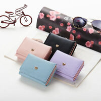 Lady Women Leather Clutch Short Black Wallet PU Card Holder Purse Handbag Bag US