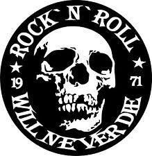 Aufnäher Rückenpatch Rock`n`Roll Metal Totenkopf ca. 30 x 31 cm gedruckt CK113