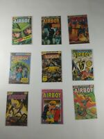 Lot Of 9 Eclipse Comics Airboy Comic Books Heap Manic Mr Monster
