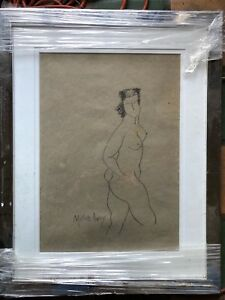 Milton Avery Nude Drawing Original Signed