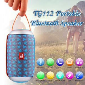 US Wireless bluetooth Speaker Waterproof Outdoor Stereo Bass USB/TF Radio  N