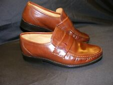 Clarks Mid Tan Loafer UK 6 Extra Wide (EU 39) Excellent Little Used.