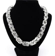 355g Heavy Stainless steel Large Big Byzantine Chain Necklace 15mm 24'' Cool Men