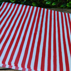 Red White Candy Stripe Christmas Festive Luxury Tissue Paper 50 x 75cm 10 Sheets