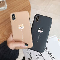 Funny Smile Face Hasky Shiba TPU Soft Case Kuso Cover for iPhone XR 6 7 8 Xs Max