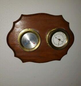 Vtg Schatz Royal Mariner External Ships Barometer + hygrometer / thermometer